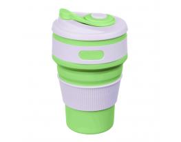 Чашка складная силиконовая Collapsible 5332 350мл, салатовая фото 1