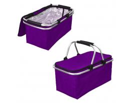Термосумка, дорожная термокорзина Фиолетовая фото