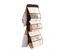 Органайзер подвесной для хранения сумок на 5 ячеек Коричневый фото