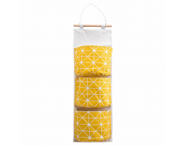 Подвесной органайзер для хранения мелочей Жёлтый фото