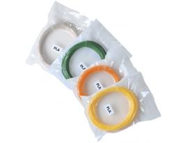 Набор PLA пластика для 3D Ручки 40м вид 1 (4 шт) фото