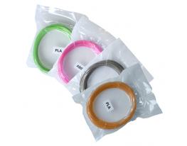 Набор PLA пластика для 3D Ручки 40м вид 3 (4 шт) фото