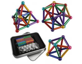 Магнитный конструктор NEO 63 детали Разноцветный фото 1