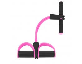 Эспандер для мышц ног, рук и груди Розовый фото