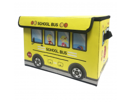 Ящик для хранения игрушек и вещей Автобус Жёлтый фото