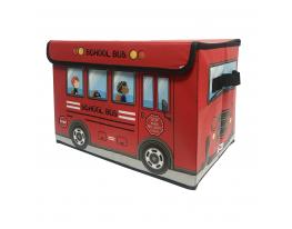 Ящик для хранения игрушек и вещей Автобус Красный фото