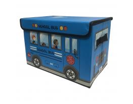 Ящик для хранения игрушек и вещей Автобус Голубой фото 1