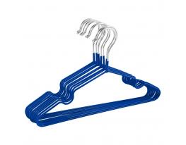 Набор металл. вешалок с силиконовым покрытием Синий (10 шт) фото 1