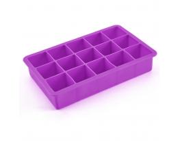 Форма для льда Кубик Фиолетовая фото