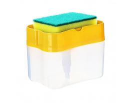 Нажимной диспенсер для моющего Sponge Caddy Жёлтый фото 1