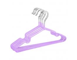 Набор металл. вешалок с силикон. покрытием Сиреневый (10 шт) фото 1