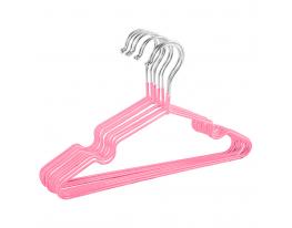 Набор металл. вешалок с силикон. покрытием Светло-розовый (10 шт) фото 1