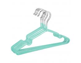 Набор металл. вешалок с силикон. покрытием Мятный (10 шт) фото