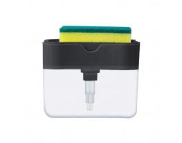Диспенсер для моющего с местом для губки Sponge Caddy Графит фото 1