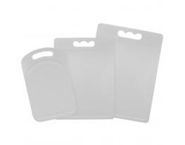 Набор пластиковых разделочных досок из 3 шт Белый фото 1