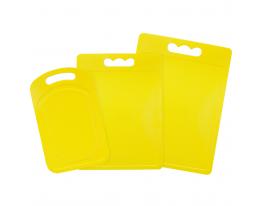 Набор пластиковых разделочных досок из 3 шт Желтый фото