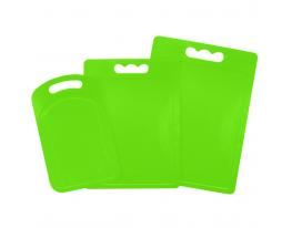 Набор пластиковых разделочных досок из 3 шт Салатовый фото