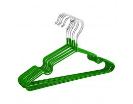 Набор вешалок с силикон.покрыт. Зелёный 10 шт фото
