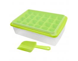 Форма для льда с контейнером и лопаткой Салатовая фото 3