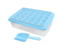 Форма для льда с контейнером и лопаткой Голубая фото 3