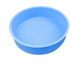 Форма силиконовая Круг диаметр 26 см Голубая фото 1