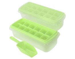 Форма для льда с контейнером и лопаткой 27*10см Салатовая фото 6