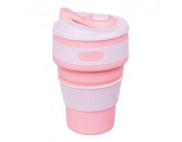 Чашка складная силиконовая Collapsible 5332 350мл, Пудра фото 1