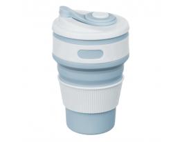 Чашка складная силиконовая Collapsible 5332 350мл, Голубо-серая фото 1