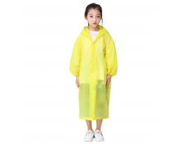 Плащ-дождевик детский жёлтый фото 1