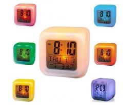 Будильник-хамелеон с термометром (меняет цвет) фото