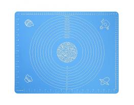 Коврик силикон с разметкой 40х50см Голубой фото