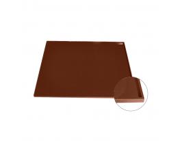 Коврик антипригарный силикон с бортиками Коричневый фото