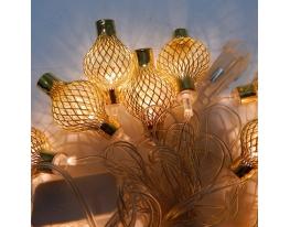 Гирлянда Китайский фонарик Золото LED 20 фото