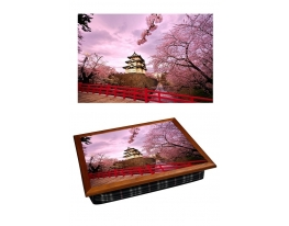 Поднос с подушкой Японская Сакура фото