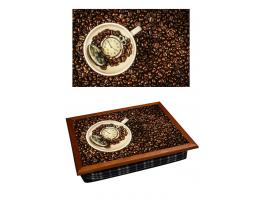 Поднос с подушкой Время Кофе фото
