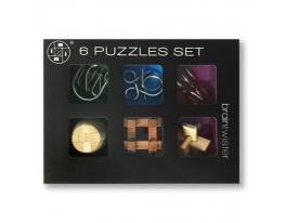 Набор из 6 штук головоломок разного уровня сложности (3-х металлических, 3-х бамбуковых) фото 7