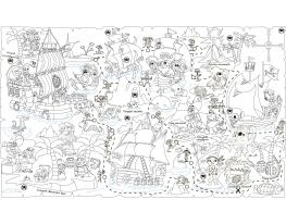 Обои-раскраски Пиратская карта 60х100см фото