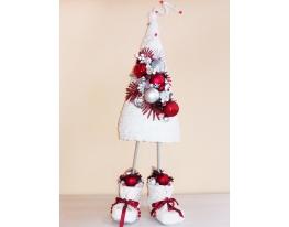 Мягкая елка в ботинках Белая стандарт фото
