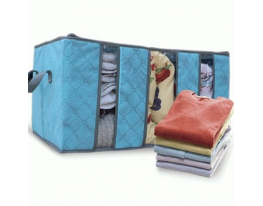 Органайзер - кофр для одежды Бамбук Голубой фото