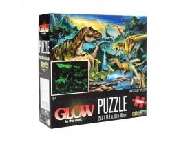 Пазлы 3D Динозавры, светящиеся в темноте, 68-48см на 1000 деталей фото
