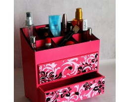 Комод-органайзер для косметики с двумя выдвижными ящичками фото