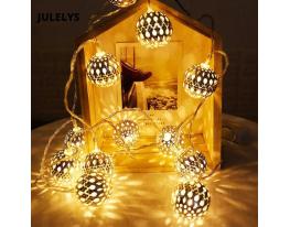 Гирлянда Сфера Золото LED 20 Жёлтая фото