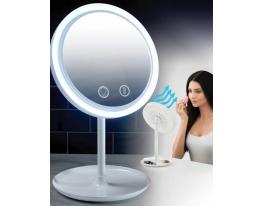 Настольное косметическое зеркало NuBrilliance Beauty Breeze Mirror с подсветкой и вентилятором фото