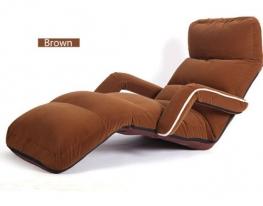 Кресло трансформер с подлокотниками кофейное фото