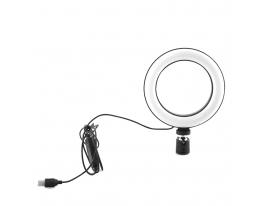 Кольцевая LED лампа USB 16cm для селфи RING LIGHT фото