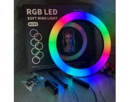 Кольцевая LED RGB SP12 лампа USB 30cm для селфи RING LIGHT фото