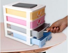 Мини - комод пластиковый на 4 секции фото