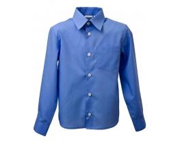 Школьная рубашка для мальчика Синяя фото