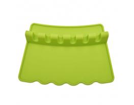 Подставка под кухонные аксессуары силикон Салатовая фото