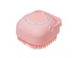 Щётка для массажа, мытья посуды, купания животных Розовая фото
